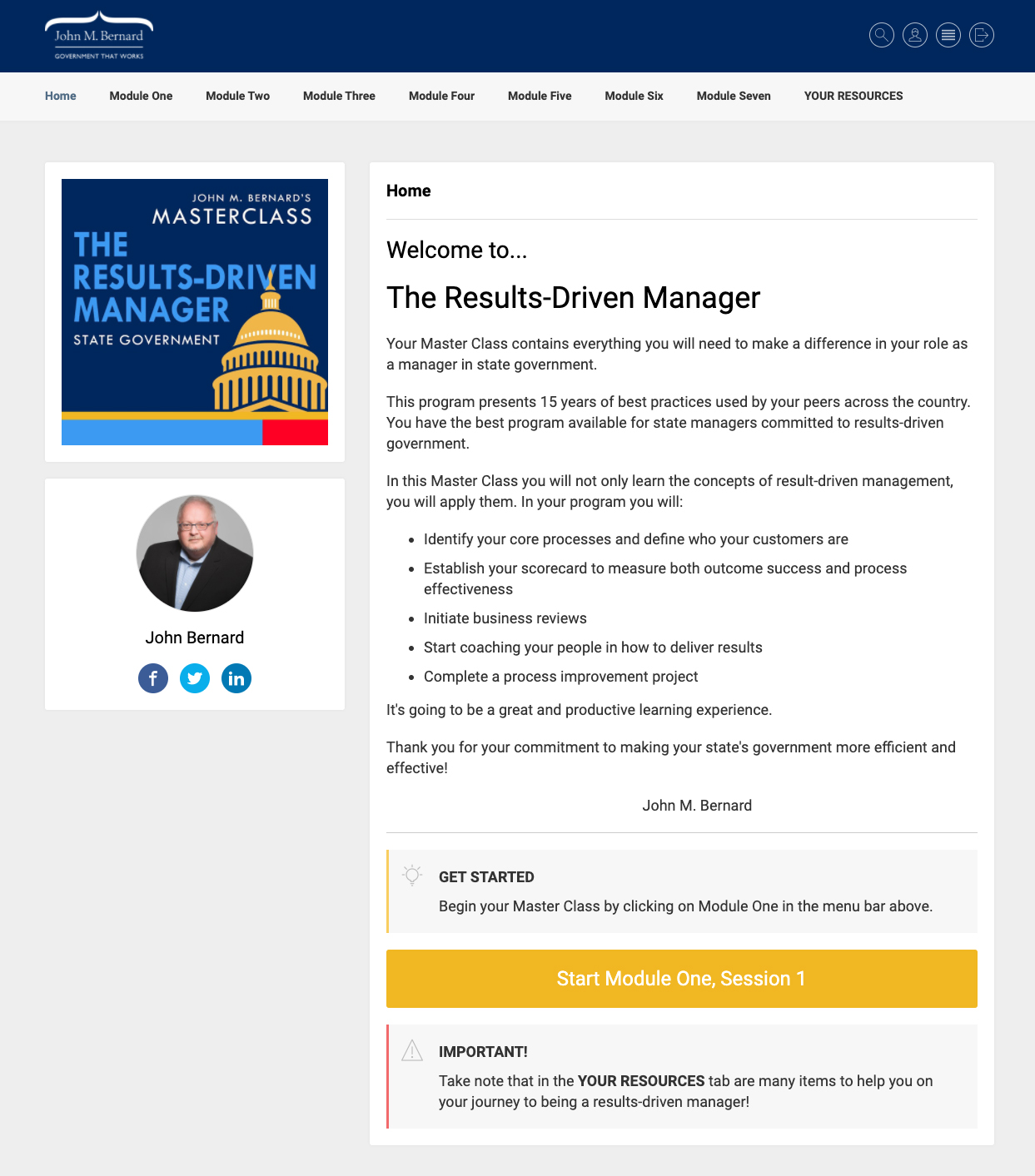 Welcome Page, hr